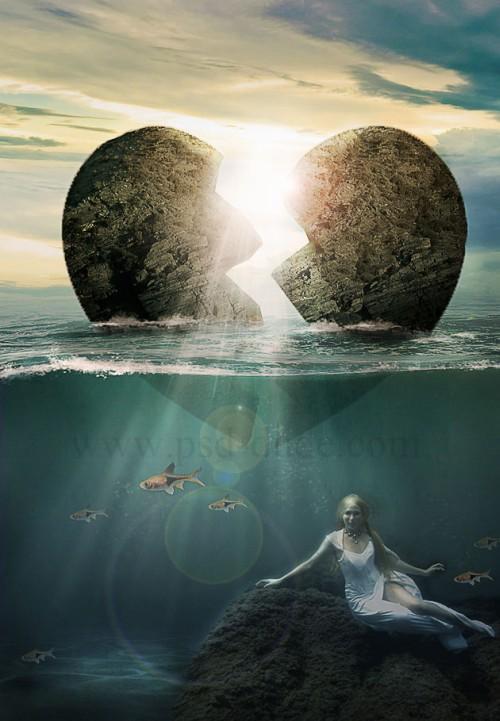 Фотоманипуляция «Разбитое сердце»