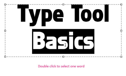 Инструмент Type Tool в Photoshop CS6