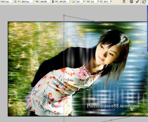Стилизация  фона с применением  фильтра «Ветер»