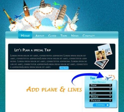 Макет сайта для туристического агентства