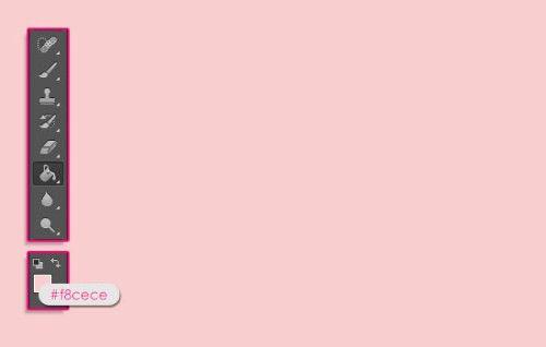 Красивый клубничный текст в Фотошоп