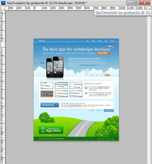 Макет сайта для IPhone
