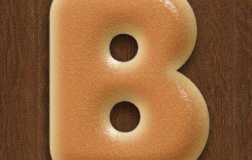 Буквы в виде бубликов в Фотошоп