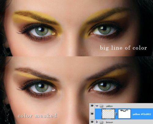 Красивый макияж в Фотошоп