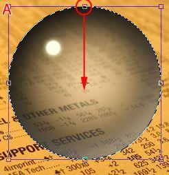Стеклянный шар в Фотошоп