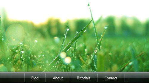 Меню сайта в стиле Windows Vista