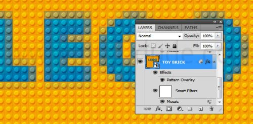Текст из Lego
