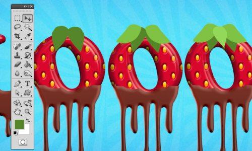 Клубничный текст в шоколаде