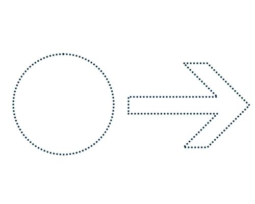 Пунктирная линия в Фотошоп