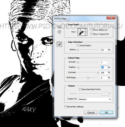 Преобразование изображения в векторный силуэт