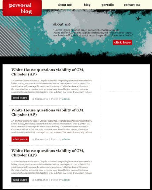 Макет сайта в стиле гранж