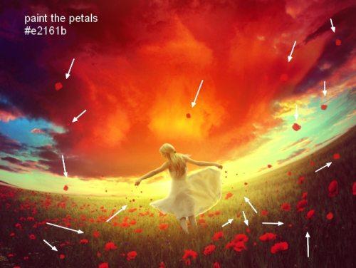Коллаж «Красная мечта»
