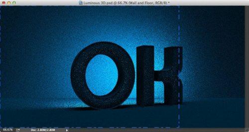 Неоновый 3D текст