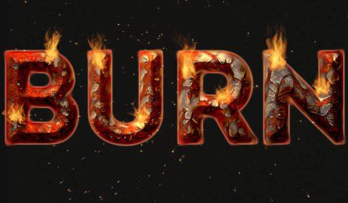 Текст из огня и ржавчины в Фотошоп