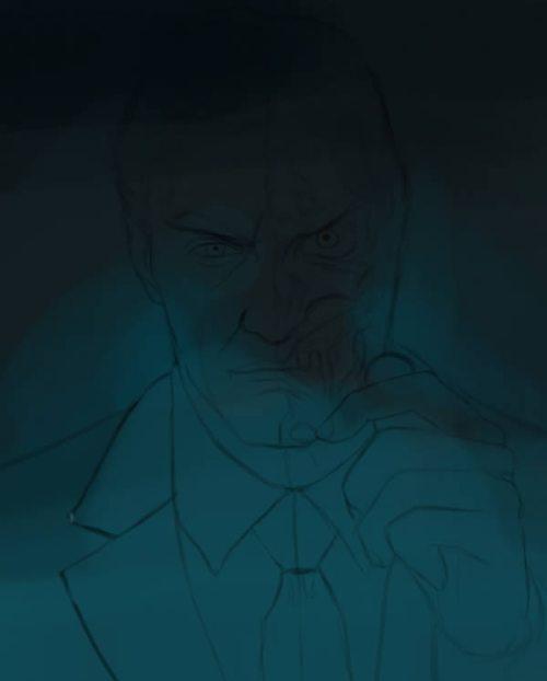 Цифровая живопись «Двуликий»