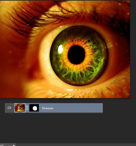 Фотоманипуляция «Жуткий глаз»