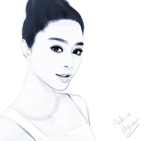Чёрно-белый рисунок из фотографии