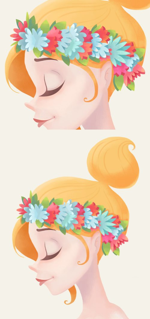 Рисуем цветочную леди в Photoshop