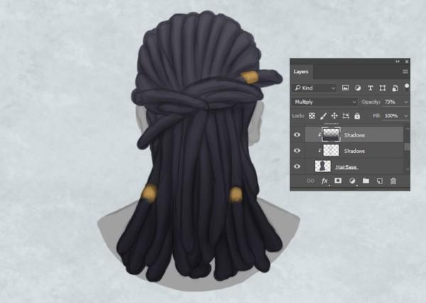 Рисуем реалистичные волосы коса и дреды