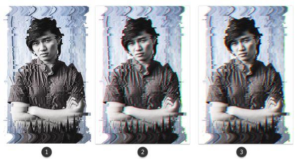Глитч эффект в Photoshop